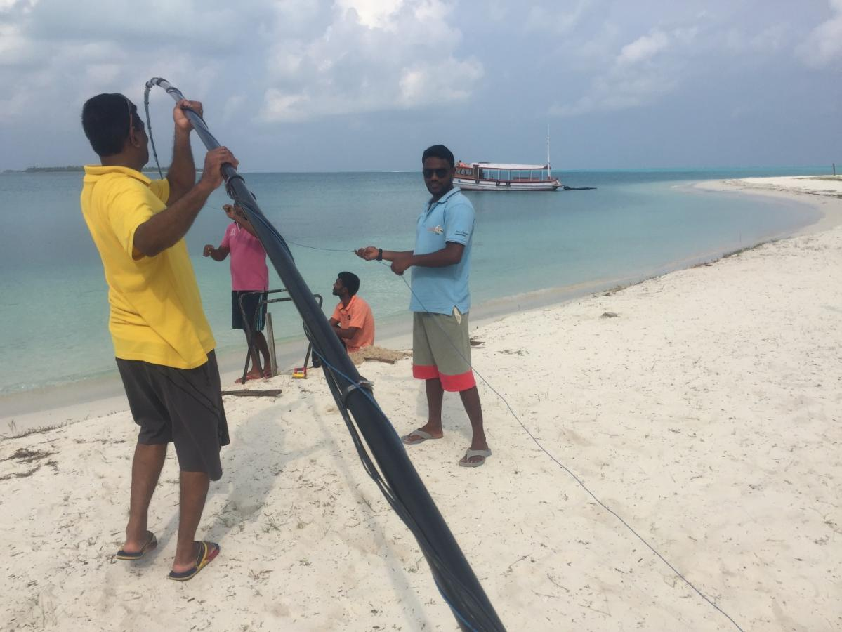 VU7KP Laccadive Islands Bangaram Island Antenna assembly