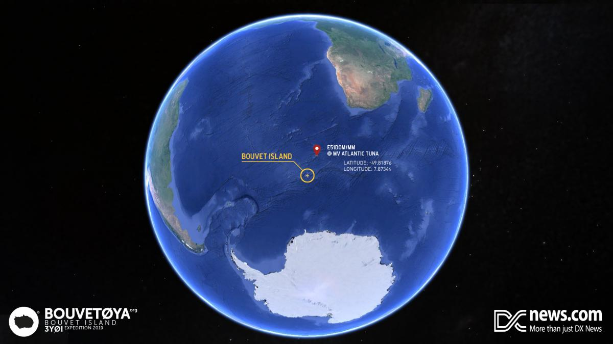 3Y0I Bouvet Island 25 March 2019 News Position of ship