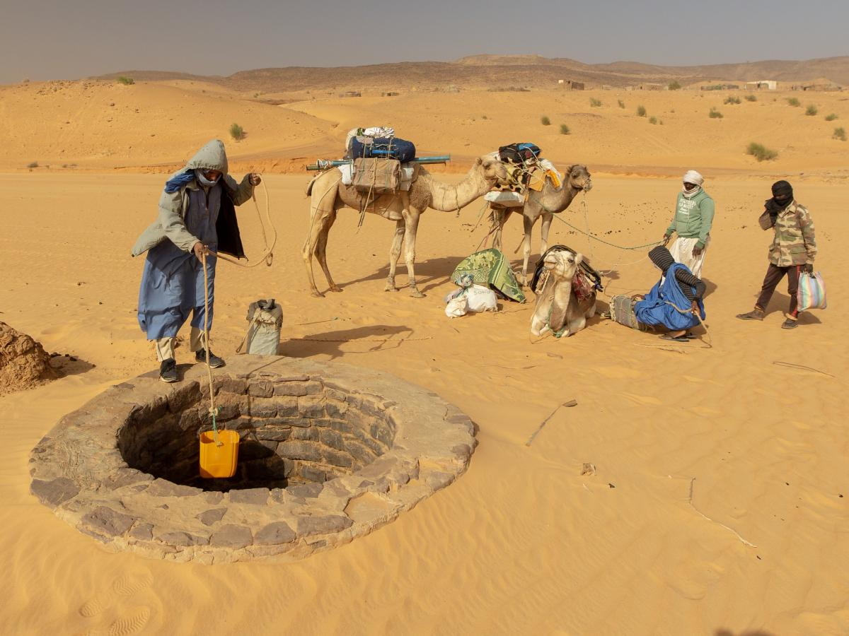 5T0AA Water Well of Timinit, Mauritania. Tourist attractions spot