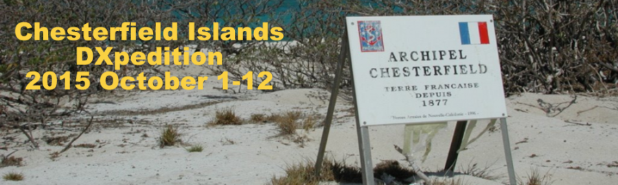 Chesterfield Islands TX3X News 28 August 2015