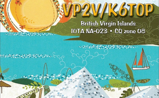 Tortola Island British Virgin Island VP2V/K6TOP QSL