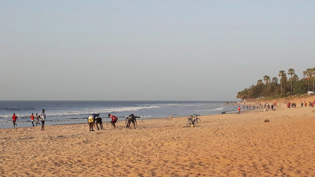 C56BR Kotu Beach, The Gambia. Tourist attractions spot