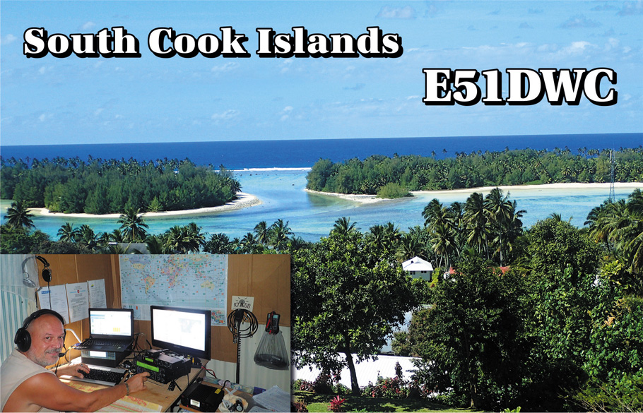 Milan E51DWC South Cook Islands Image New QSL Card
