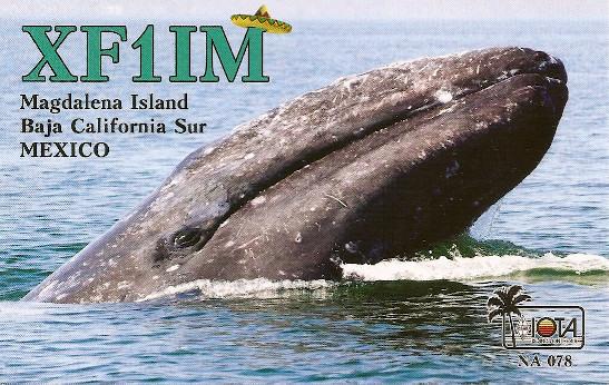 XF1IM Magdalena Island QSL Card