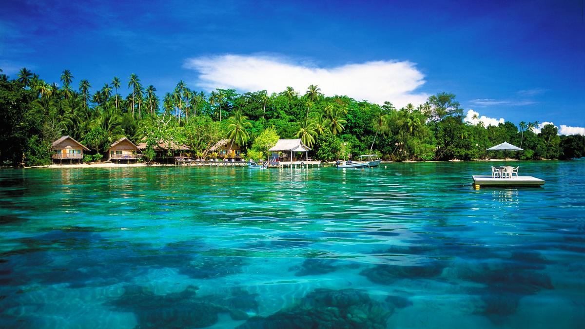 H44MI Solomon Islands Tourist attractions spot