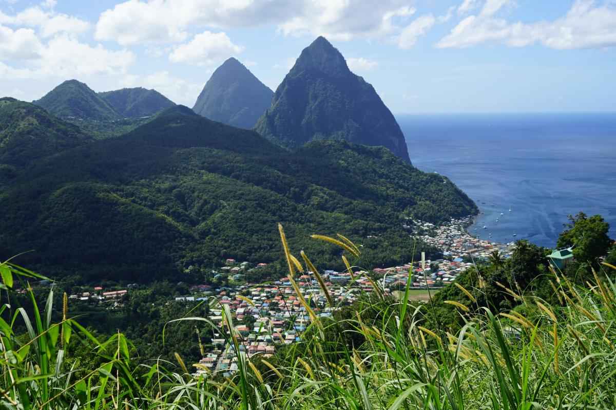 J6/AI6LY Saint Lucia Island Tourist attractions spot
