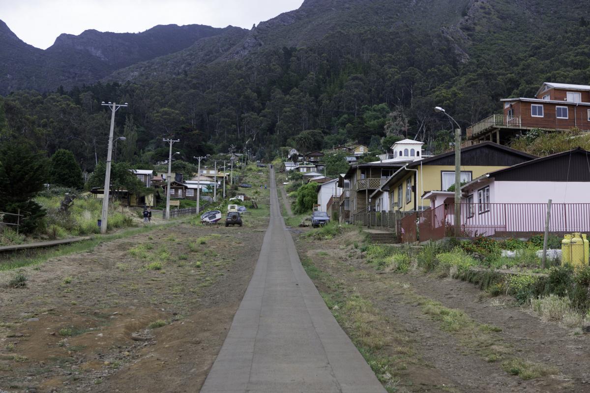 XR0ZRC San Juan Bautista, Robinson Crusoe Island. Tourist attractions spot