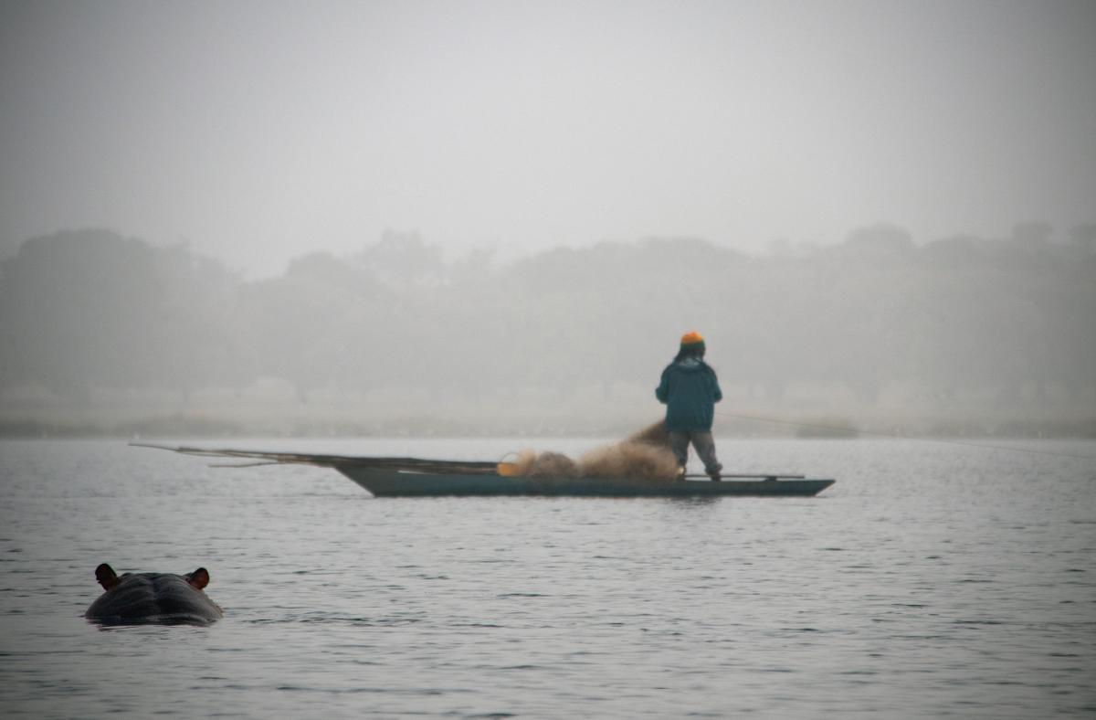 XT2SZZ Lake Tengrela, Burkina Faso. Tourist attractions spot