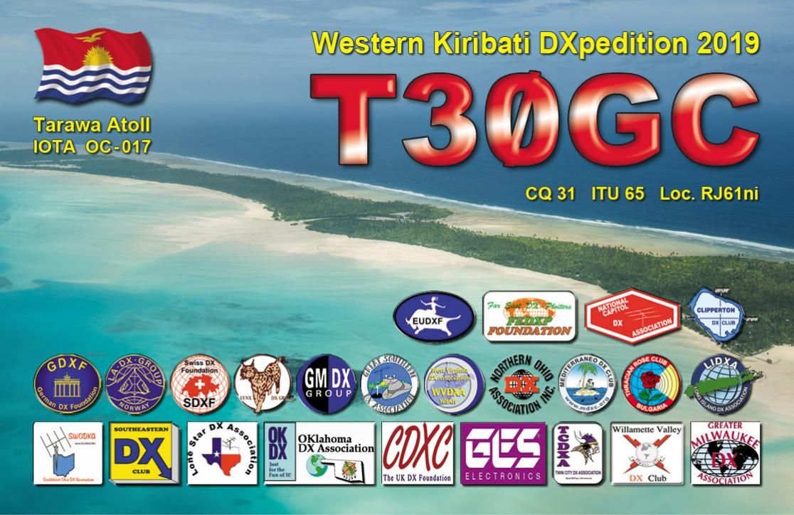 T30GC Tarawa Island, Kiribati Single QSL