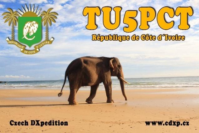 TU5PCT Cote dIvoire DX Pedition Banner