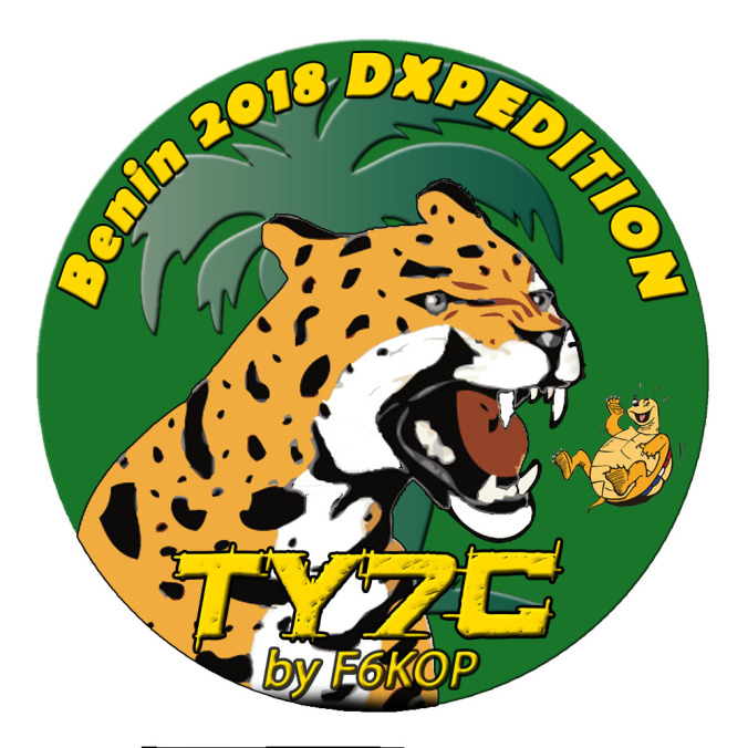 TY7C Ouidah, Benin DX Pedition. Logo.