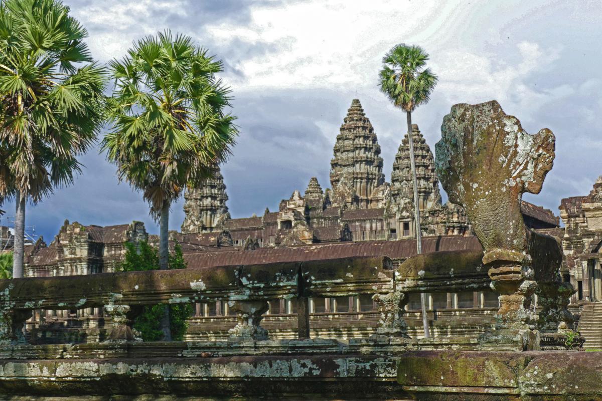 XU7XXX Angkor Wat, Cambodia. Tourist attractions spot