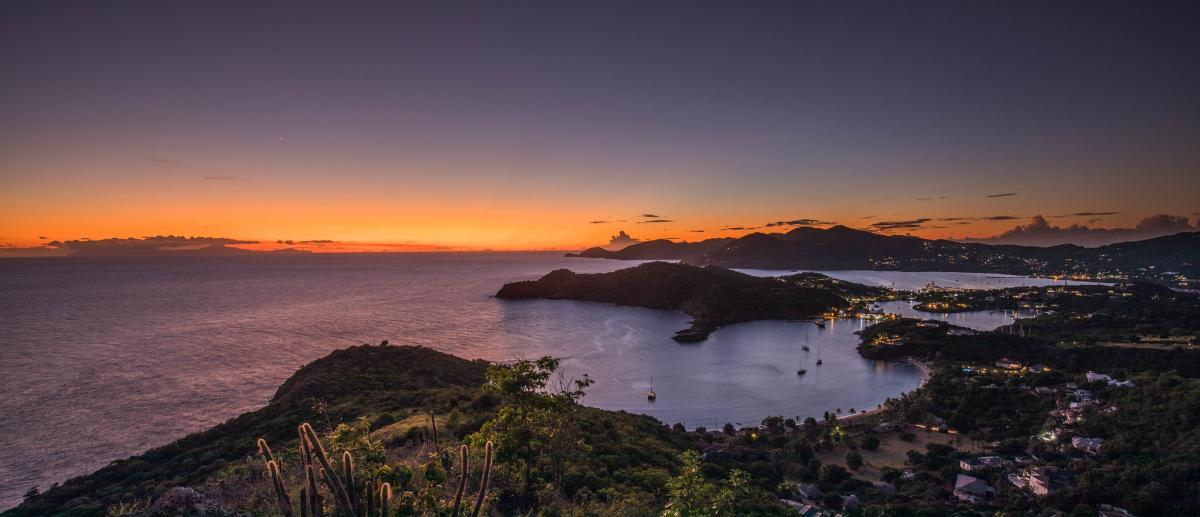 V26FP Sunset from Shirley Heights, Antigua Island, Antigua and Barbuda. DX News