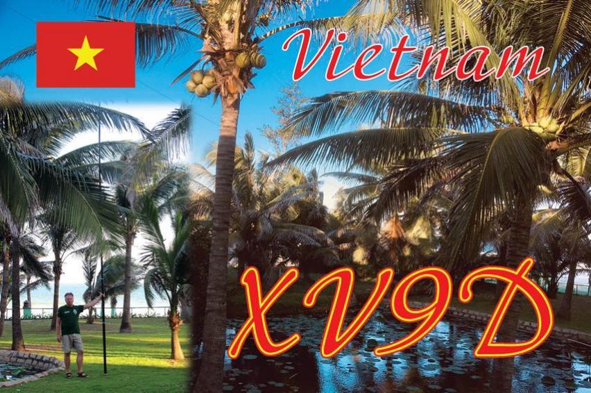 XV9D Vietnam QSL Card