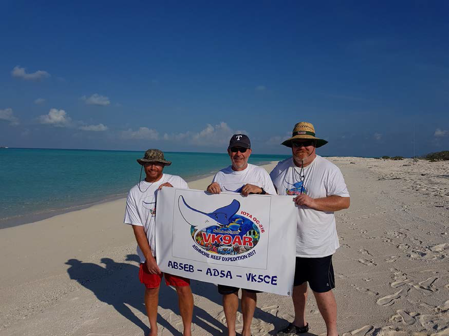 VK9AR Mike AB5EB, Mike AD5A, Craig VK5CE on Ashmore Reef