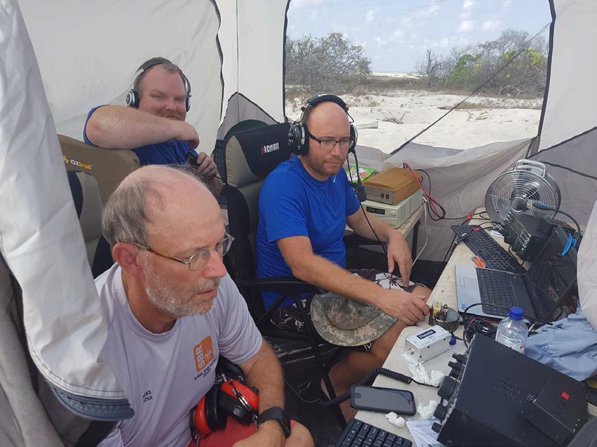 Ashmore Reef Mike AD5A after 30m closed, Craig VK5CE after 40m closed, Mike AB5EB on 20m