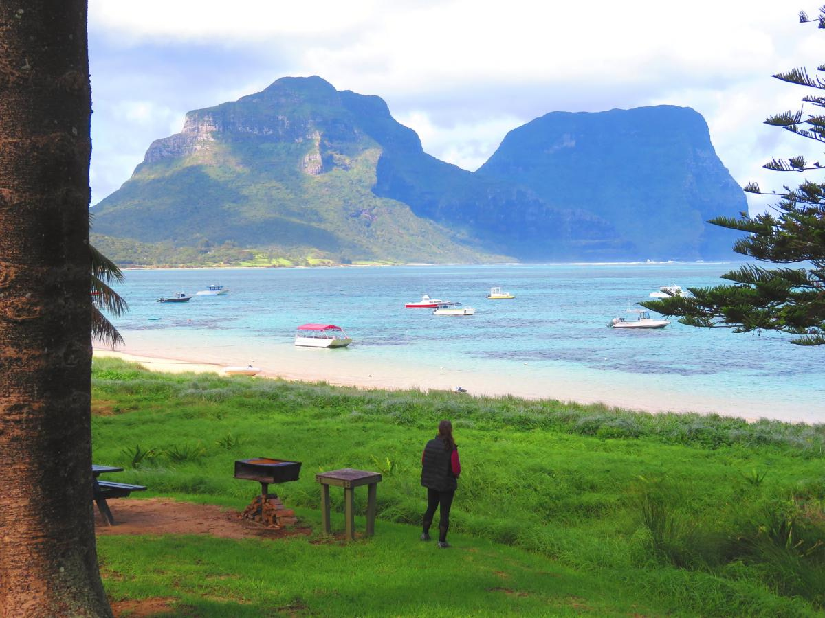 VK9LQ Admiring Mt. Lidgbird and Gower, Lord Howe Island. DX News