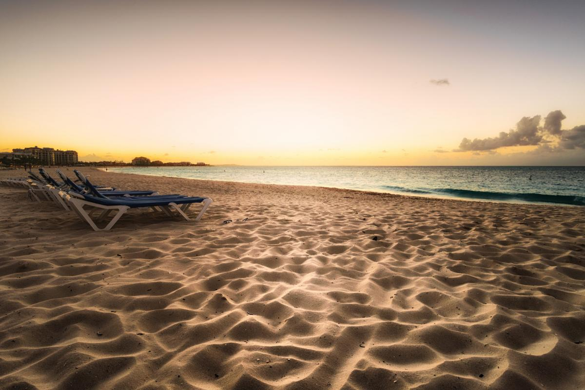 VP5/AA5UK Sunset, Grace Bay Beach, Providenciales Island, Turks and Caicos Islands.