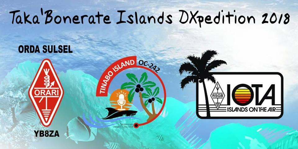 YC8AO/P Taka Bonerate Islands IOTA Logo. Rajuni Island, Tinabo Island.