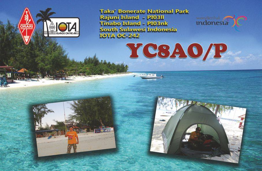 YC8AO/P Taka Bonerate Islands QSL