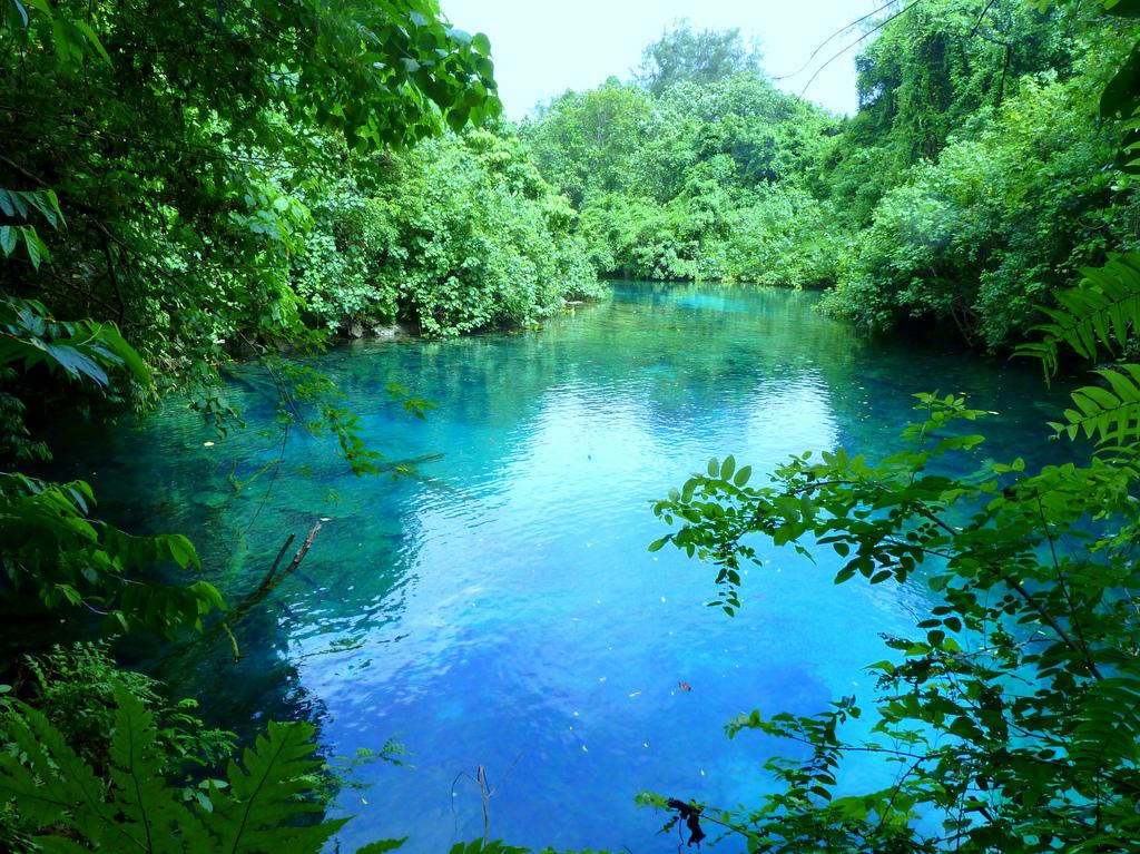 YJ0CA Голубая лагуна, Вануату. Туристические достопримечательности