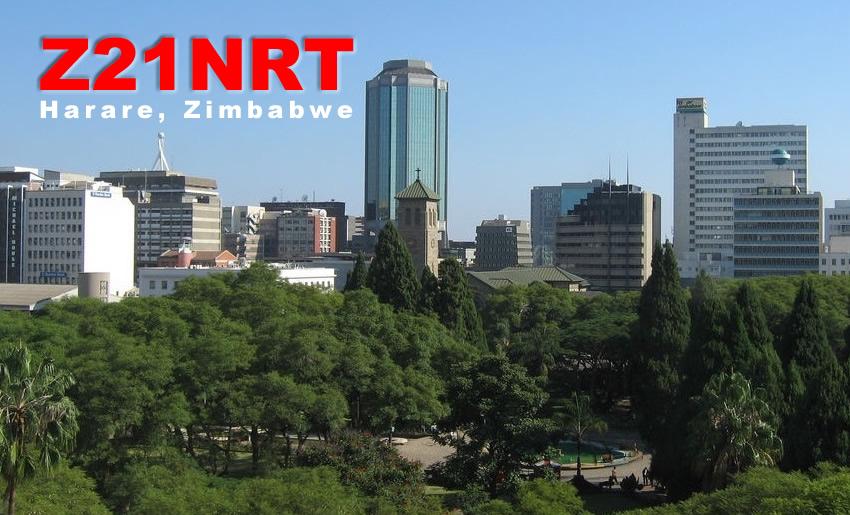 Z21NRT Borrowdale suburb Harare Zimbabe QSL