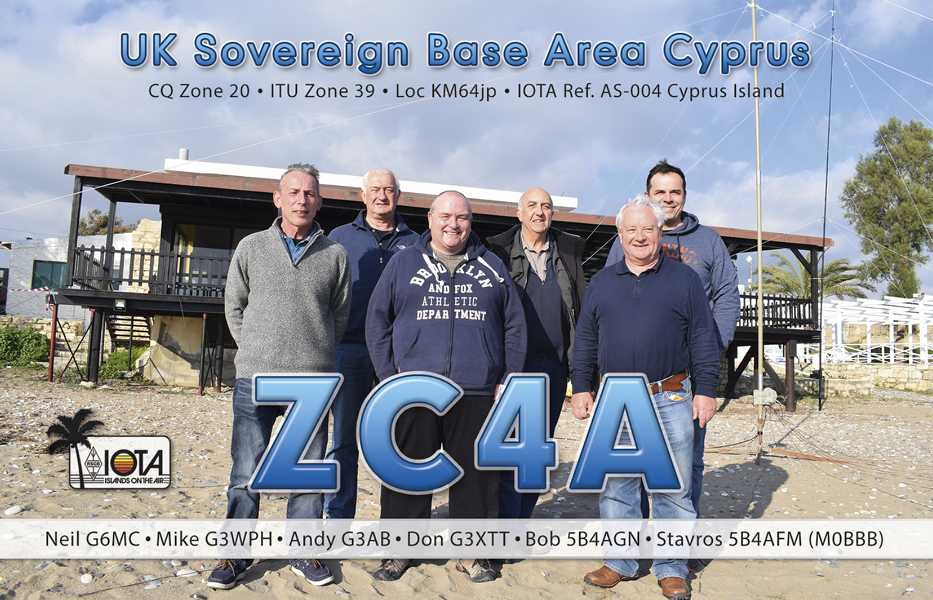 ZC4A UK Sovereign Base Area QSL 2018