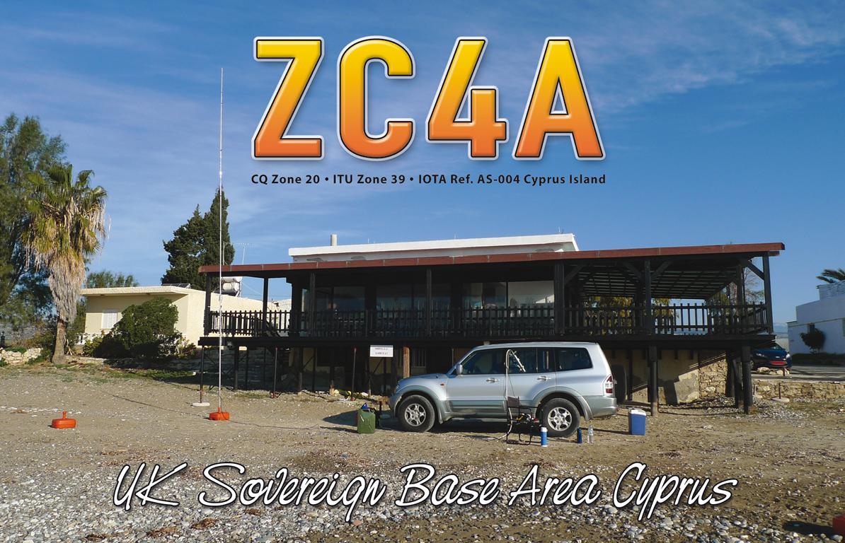 ZC4A UK Sovereign Base Area Cyprus QSL