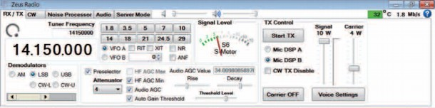 Zeus Amateur Radio 2020 Screen