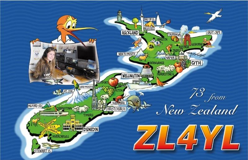 ZL4YL New Zealand QSL