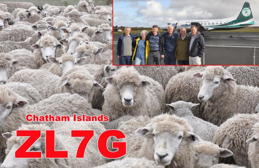 ZL7G Chatham Island QSL