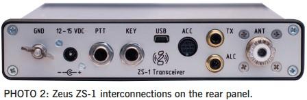 Зевс ZS - 1 Радиолюбительский трансивер 2020 Разъемы