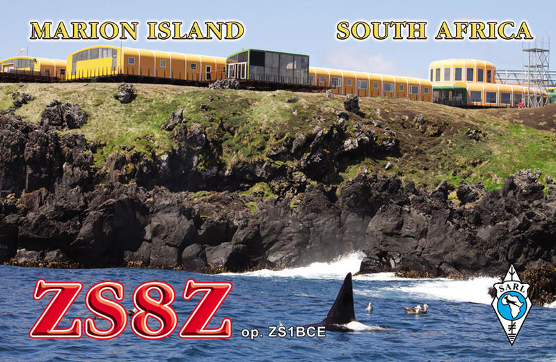 Marion Island ZS8Z QSL Card 2017