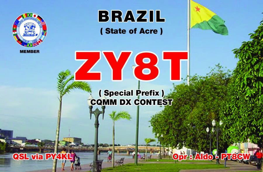 Бразилия ZY8T QSL CQ MM Contest 2017